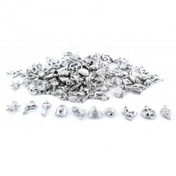 Assort. Resin pendentif silver (200 pcs)