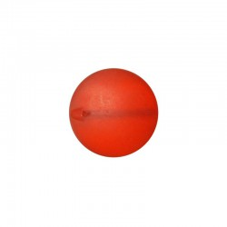 Flat round frosted resin 26mm cherry 10pcs°