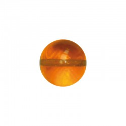 Frosted round bead 30mm orange 5pcs °°