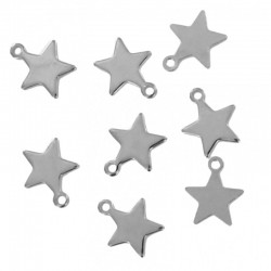 Mini Charm silver - Star (10 st)