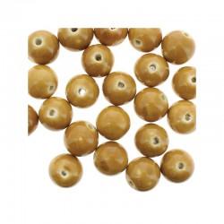 Round ceramic beads 14mm 21pcs. Beige