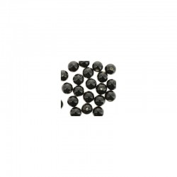 Round ceramic beads 14mm 21pcs. Black