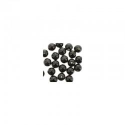 Round ceramic beads 14mm 21pcs. Black
