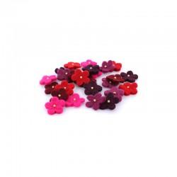 Fleurs en laine 30mm 25pcs ass. Rouges