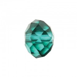 Facetted melon 8x10mm, string 25pcs teal green