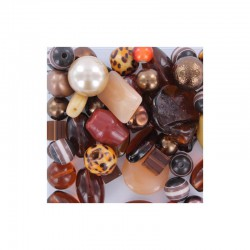 Box +-450gr +-200 quality beads brown