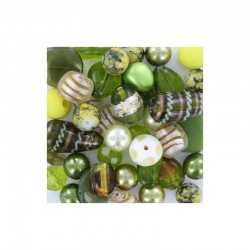 Box +-450gr +-200 quality beads olive