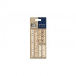 Bare Basics - Wooden Ruler Shapes 6pcs
