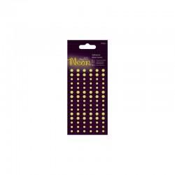 Adhesive Gems (105pcs) - Neon Yellow