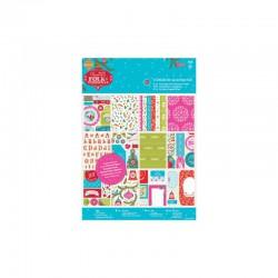 Assort. Die-cut & Paper Pack - Folk Christmas (48 sheets)