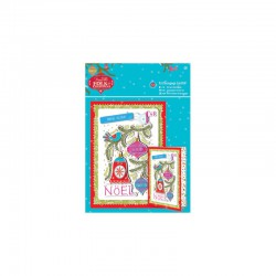 A5 Decoupage Card Kit - Folk Christmas - Christmas