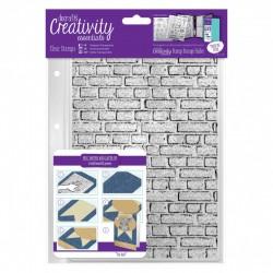 A5 Clear Stamp Set - Brickwork Background (1 pc)