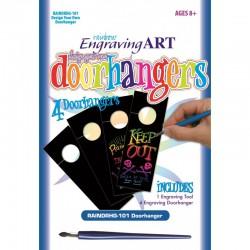 Engraving art Design your doorhanger - Rainbow