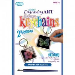 Engraving art Design your keychain - Rainbow