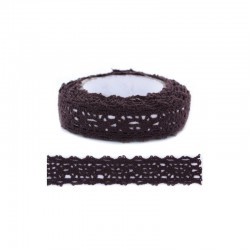 Adhesive Lace tape - 15mm x 2m brown