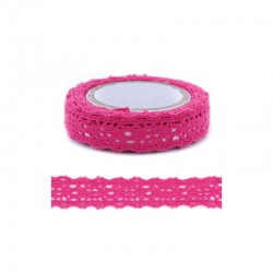 Adhesive Lace tape - 15mm x 2m hot pink