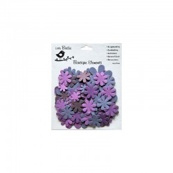 Assort. Paper Flowers plum (100 pcs) °°°