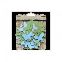 Assort. Butterflies & dragonflies Turquoise (100 pcs)°
