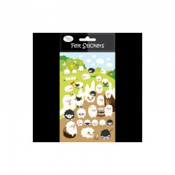 Felt sticker 10x16cm sheeps