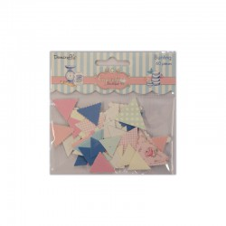 Cupcake Boutique - Chipboard bunting 60pcs
