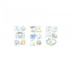 3D stickers 13x8cm blue baby (2x3 designs.ass.)