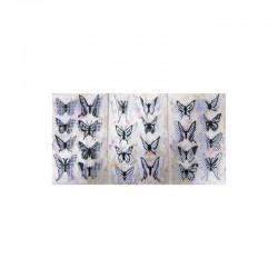 3D stickers 13x8cm butteflies black/white (2x3 designs.ass.)