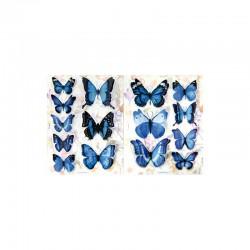 3D stickers 11x15cm butteflies blue 3x2 designs