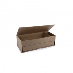 Cardboard pencil box 2 compartments 210x85x68mm