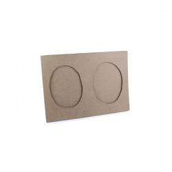 Double oval frame 180x130mm(min 5)°
