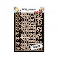Embellishments kraft paper shapes A5 gears
