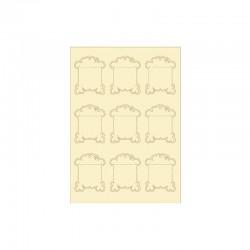 Embellishments softkarton shapes 9pcs vintage bobins°