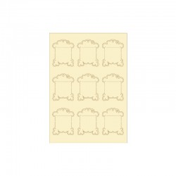 Embellishments softkarton shapes 9pcs vintage bobins°