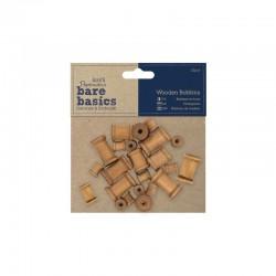 Bare Basics - Wooden Bobbins 22pcs