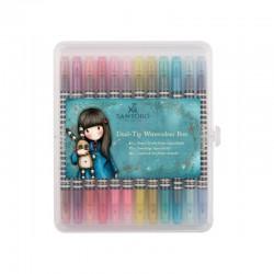 Watercolour Dual-tip markers - Gorjuss - Bright (12 pcs)