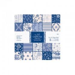 Capsule - Ass. paper 30x30cm (32PK.) - Parisienne blue