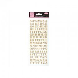 Alphabet glitter sticker - Gold