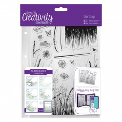 A5 Clear Stamp Set - Meadow (15 pcs)