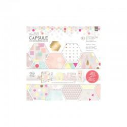 12 x 12'' Paper Pack (36pk) - Capsule - Geometric Neon