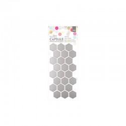 Adhesive Mirror Shapes (24pcs)- Hexagon - Capsule - Geometric Neon
