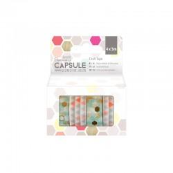 5m Craft Tape (4pcs) - Capsule - Geometric Neon