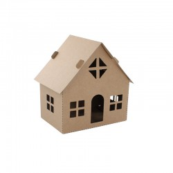 Cardboard simple house 11,5cm x 11,5cm