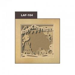Cardboard photo frame 21x21cm - Birthday