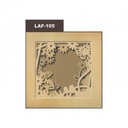 Cardboard photo frame 21x21cm - Flower