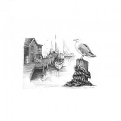 Sketching made easy 22x29cm Fishing pier
