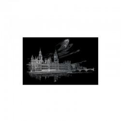 Carte à gratter 28,6x39cm argent Big Ben