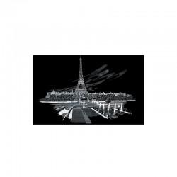 Engraving art.28,6x39cm silver. Eiffel Tower