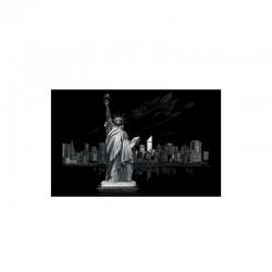 Carte à gratter 28,6x39cm argent Statue de la liberté