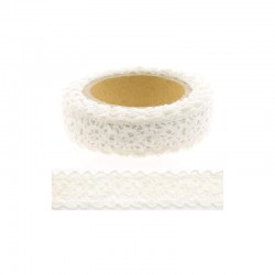 Adhesive Lace tape - 15mm x 2m white