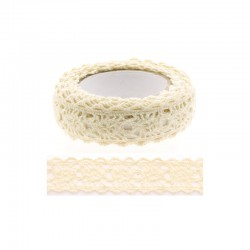 Adhesive Lace tape - 15mm x 2m beige