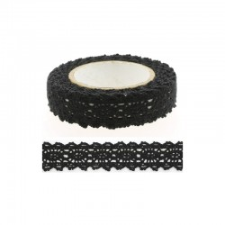 Adhesive Lace tape - 15mm x 2m black